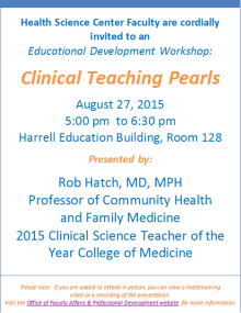 Clinical Teaching Pearls Flyer
