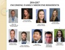 Welcome 2016-2017 Family Medicine Residents!