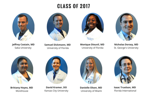 UF Family Medicine Residency Graduates 2017