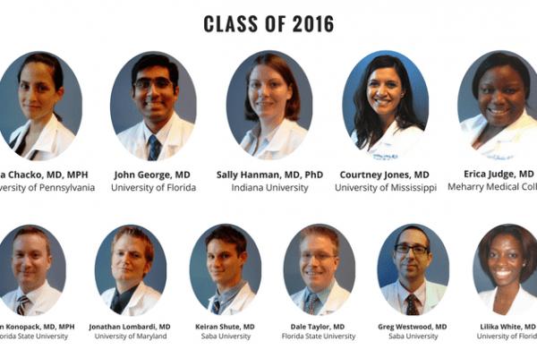 UF Family Medicine Residency Graduates 2016